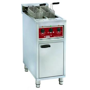 Elektrische friteuse 2x 10l (2x 32 amp. aansluiting 11500 watt.)